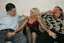 young stud meets older sexy woman husband watches