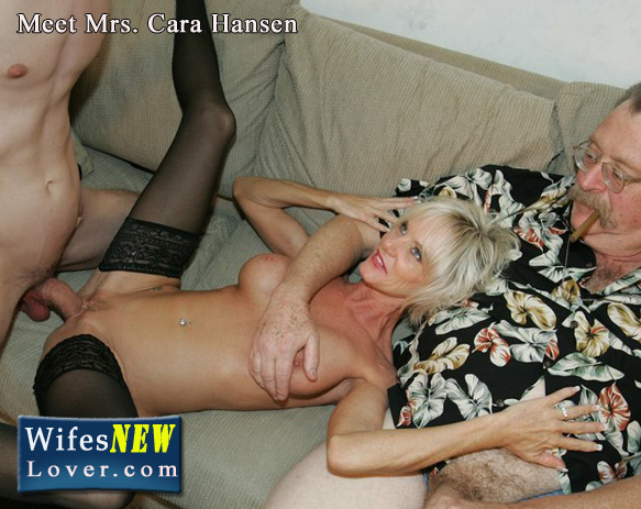 wifesnewlover.com, cara lott is an older gilf that wants some new young cock while her hubby watches